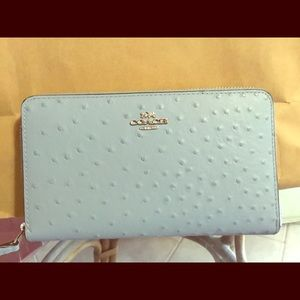Coach ostrich wallet/clutch